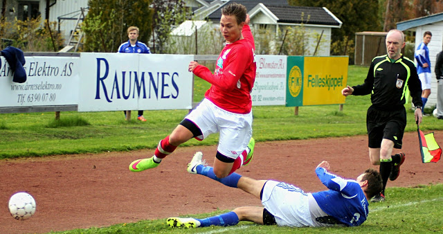Rødsrud fløy høyt mot Årnes