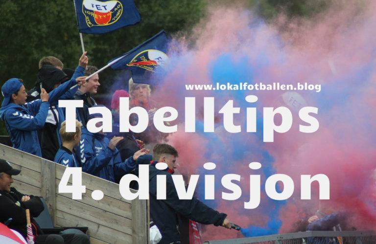 Tabelltips for 4. divisjon