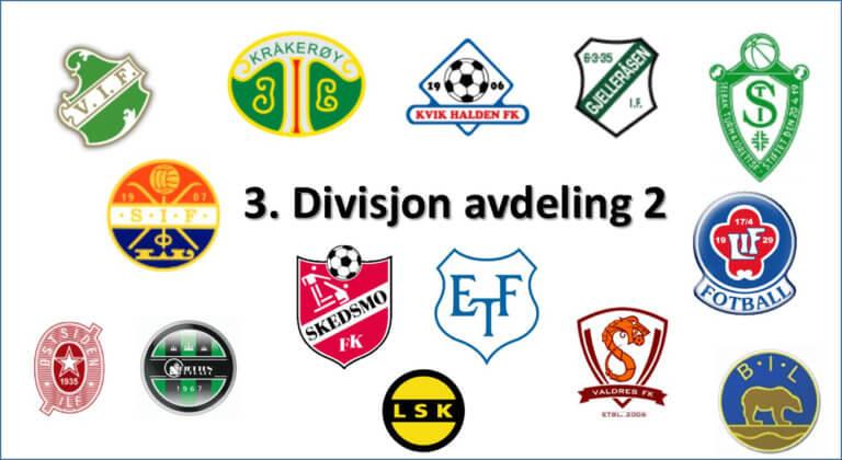 Et blikk på lagene i 3. divisjon avdeling 2